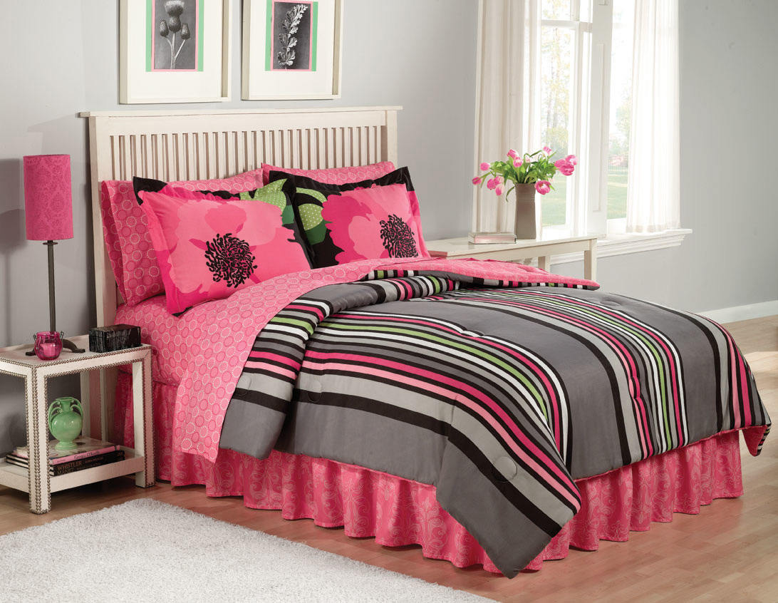 Pink and black bed sets - Black And Pink Bedspreads 32 Free Wallpaper