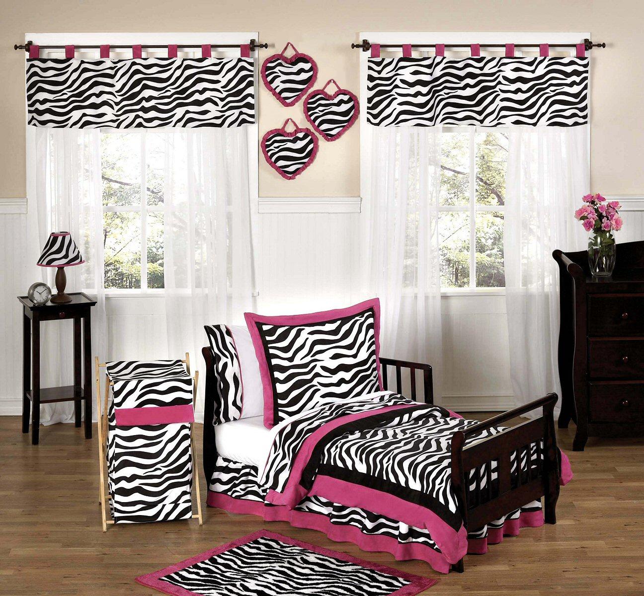 Pink and black zebra bedding 12 background wallpaper for Black and pink furniture