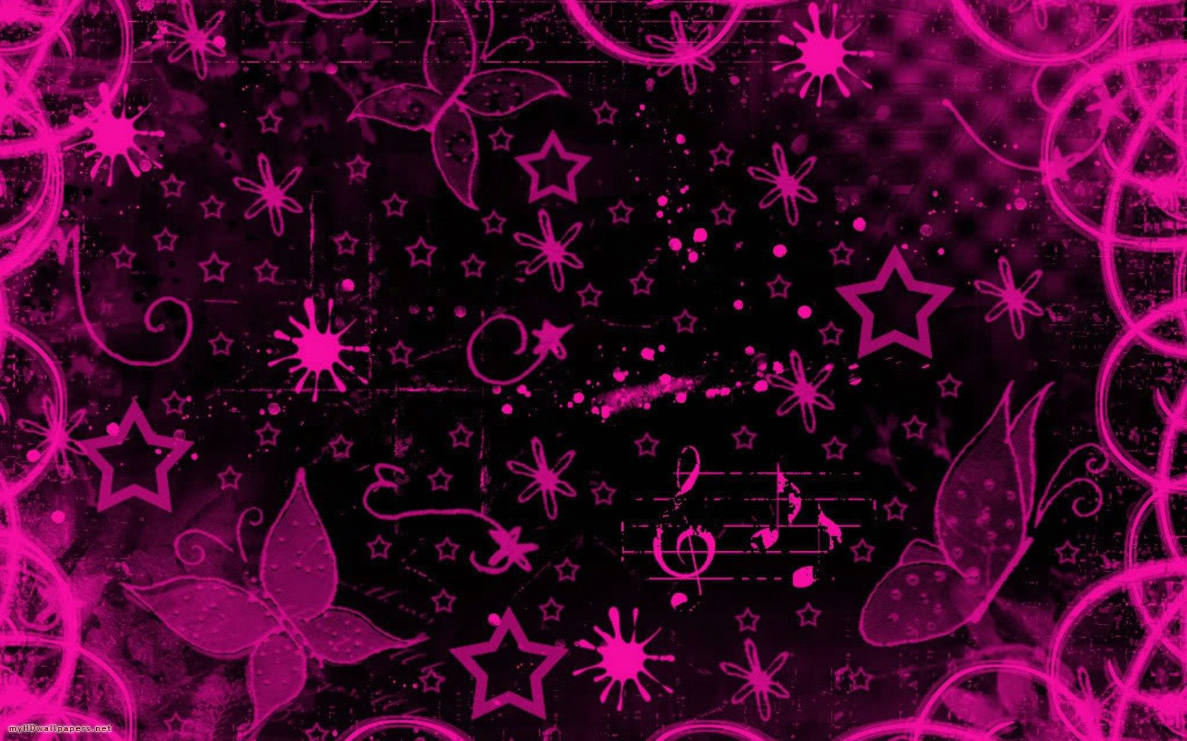 Pink and black wallpaper designs 16 background for Black wallpaper with design