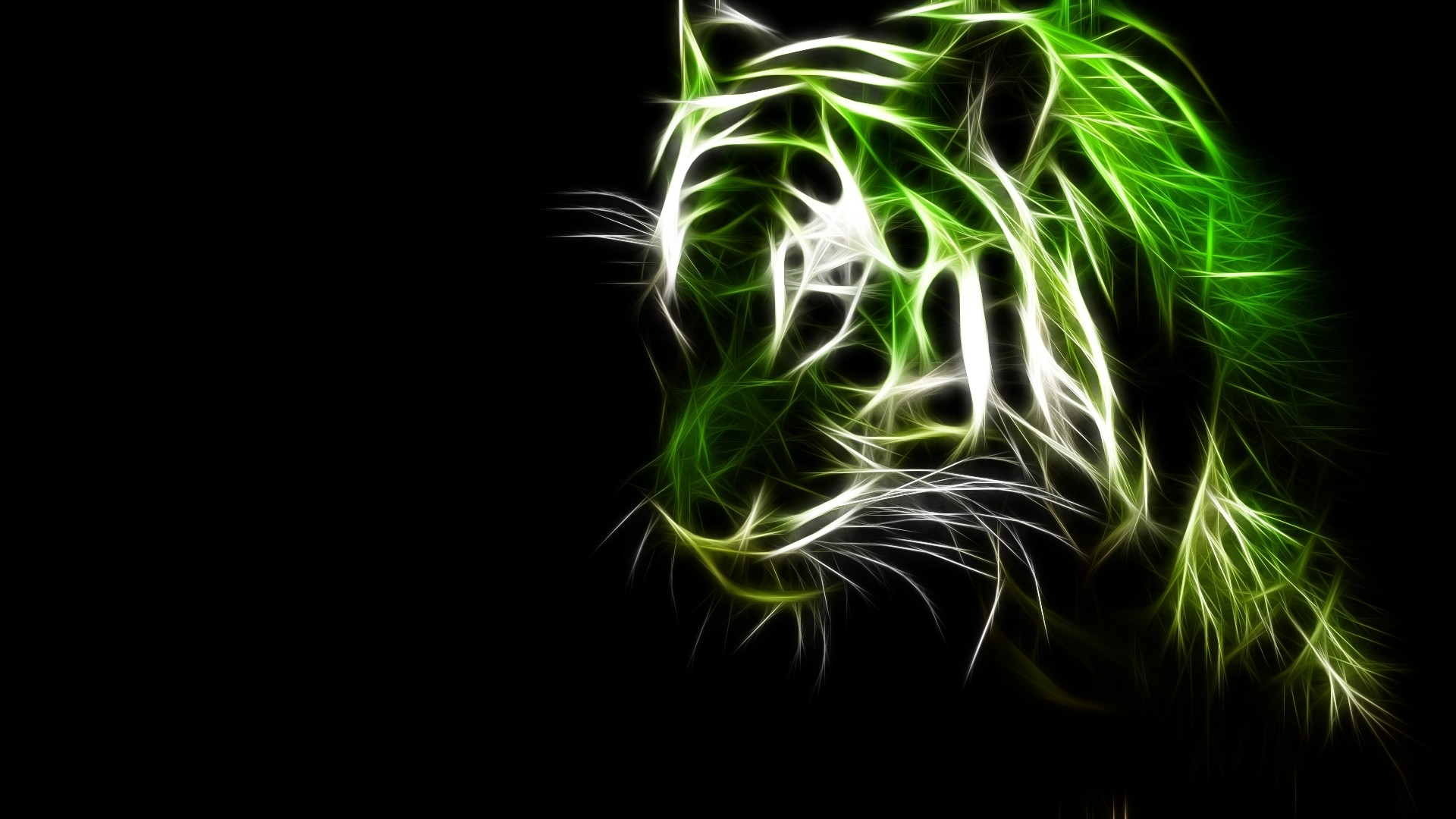 Black Wallpapers High Resolution: Black And Green Art Wallpaper 7 High Resolution Wallpaper