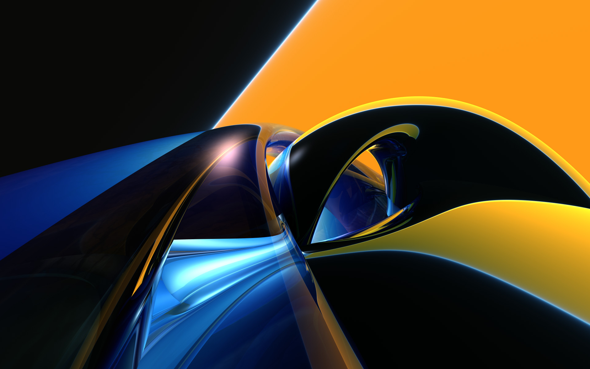 Black And Yellow Abstract Wallpaper 9 Background